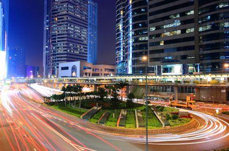 traffic through downtown in Hong kong Stock Photo - 6519680