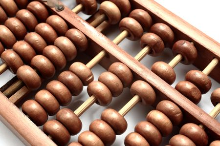 closeup of abacus photo