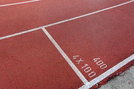 start point on running track photo