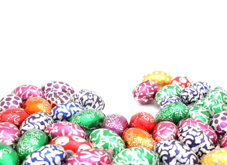 Colorful easter eggs background photo