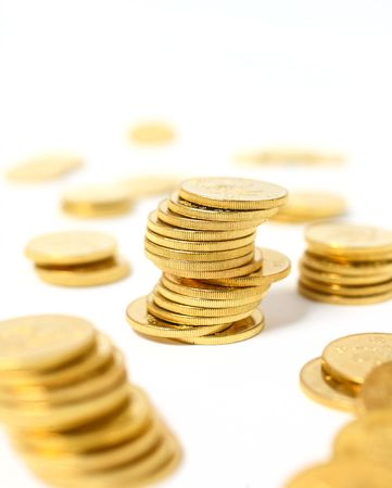 Coins in gold color Stock Photo - 6782204