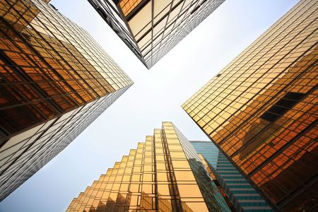 pellucid: modern business buildings Stock Photo