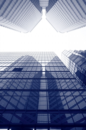 commercial real estate: modern business buildings Stock Photo