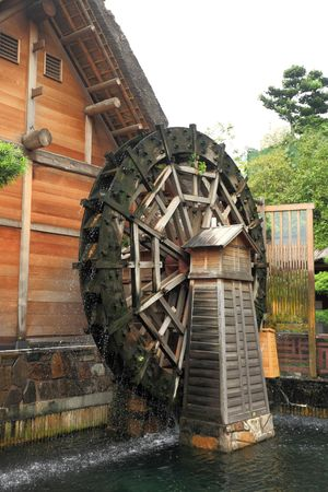 wooden waterwheel photo