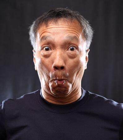 mature chinese man shocked Stock Photo - 6868579