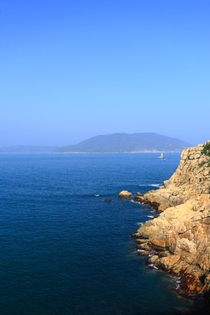 shek: shek o coast in Hong Kong Stock Photo