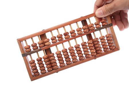 abacus hold by hand photo