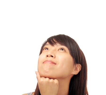 chinese girl looking up Stock Photo - 7125126
