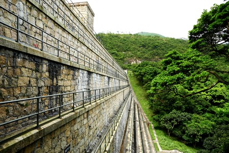 reservoirs: Reservoirs dam  Stock Photo