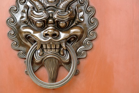 lion door lock Stock Photo - 7292252