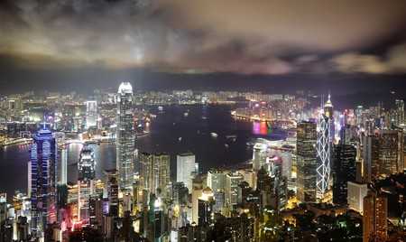 Hong Kong night view Stock Photo - 7328158