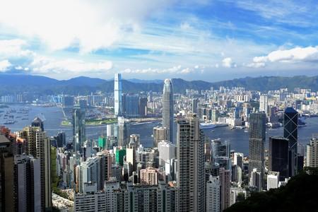 Hong Kong view from peak Stock Photo - 7379826