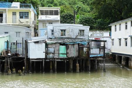 Tai O fishing village with stilt-house in Hong Kong photo