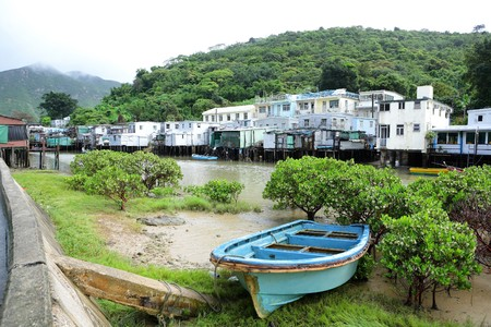 Tai O fishing village with stilt-house in Hong Kong photo