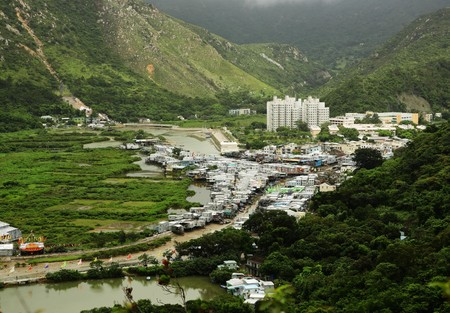 Tai O fishing village view from high photo