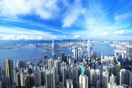 Hong Kong downtown Stock Photo - 7447503