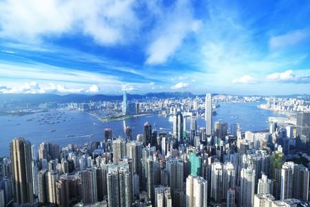 Hong Kong downtown Stock Photo - 7447503