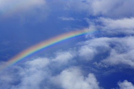 real rainbow in sky photo