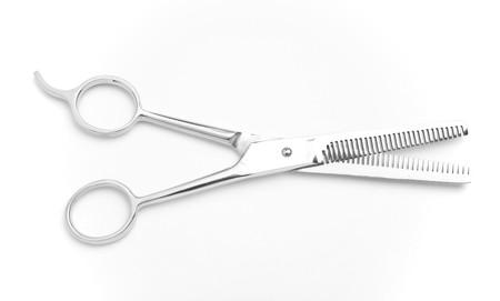 tijeras cortando: tijeras de corte de pelo  Foto de archivo