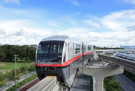 rails: monorail Stock Photo