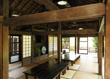 asian house plants: japanese home Stock Photo