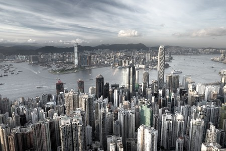 Hong Kong city in low saturation Stock Photo - 7525807