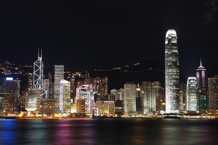 Hong Kong at night Stock Photo - 7603748