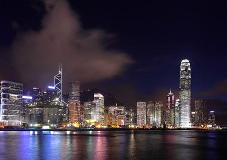 Hong Kong at night Stock Photo - 7603926
