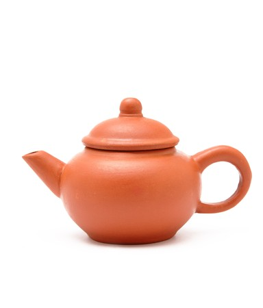 clay pot: tea pot Stock Photo