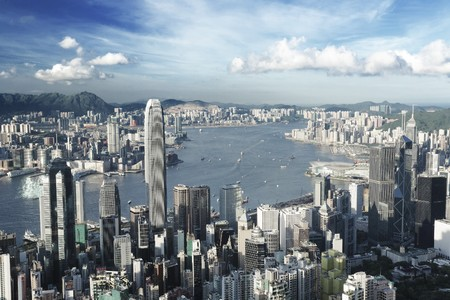 Hong Kong city in low saturation Stock Photo - 7628013