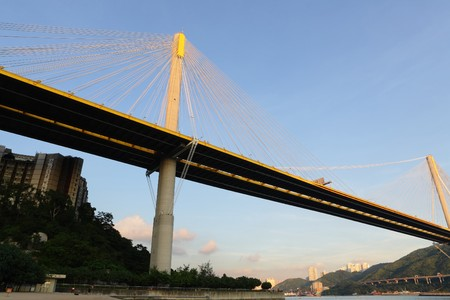 Ting Kau Bridge in Hong Kong photo