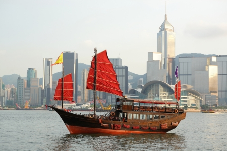 junk boat in Hong kong Stock Photo - 7866461