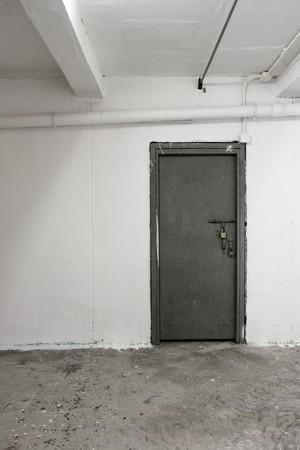 old white interior with door photo