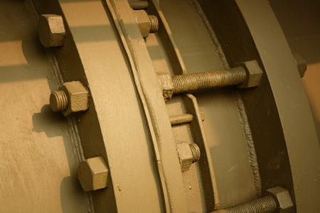 flange: flange of pipe Stock Photo