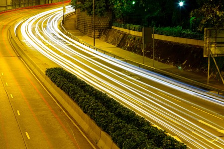 traffic in city at night Stock Photo - 8027443