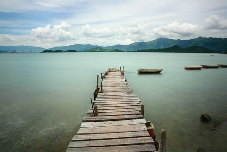 pier and boat photo