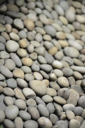 peeble: round peeble stones Stock Photo