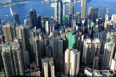 crowded buildings in Hong Kong Stock Photo - 8147212