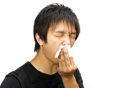 sneeze man photo