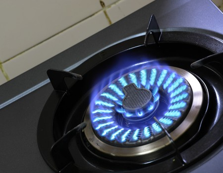 fire of gas stove photo