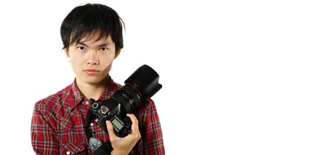 photographer with copyspace photo