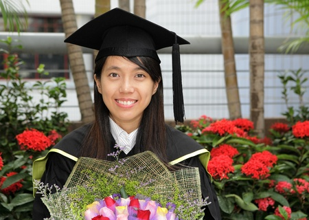asian girl graduation Stock Photo - 8346441