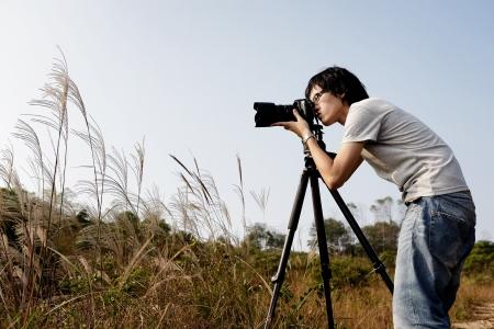 Photographer taking photo photo