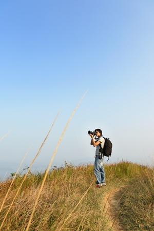 Photographer taking photo outdoor Stock Photo - 8354900