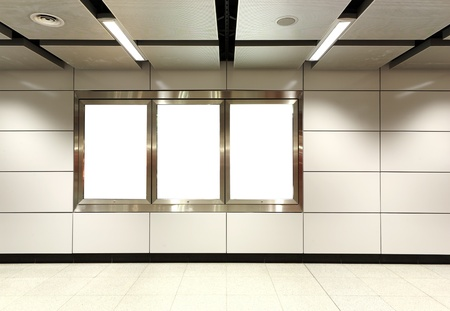 Blank billboard in metro station Stock Photo - 8428678
