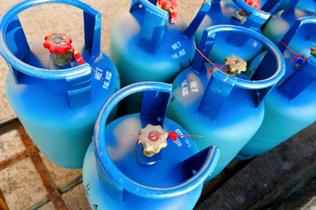 gas distribution: Propane tanks