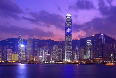 Hong Kong skyline at night Stock Photo - 8836792