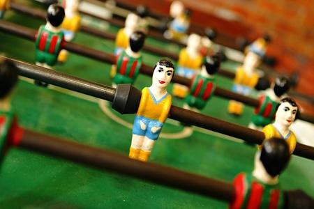 retro wooden foosball table photo