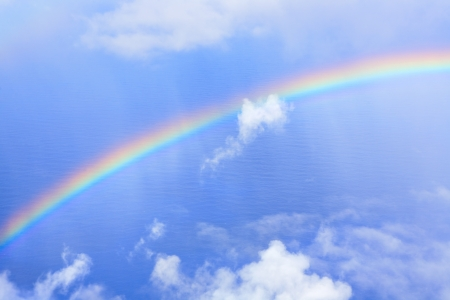 rainbow in sky photo