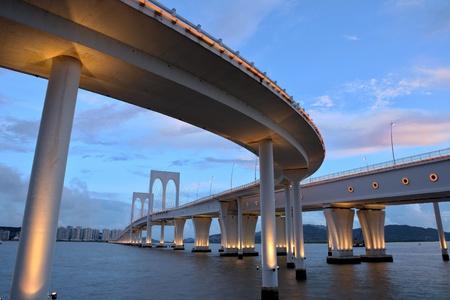 road at night: Sai Van bridge in Macau